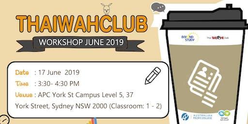 [Sydney] Thaiwahclub Workshop - June 2019