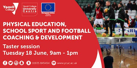 Physical Education, School Sport and Football Coaching & Development Degree-Level Qualification: Taster Session (June) tickets