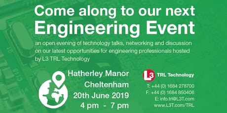 Engineering Open Evening hosted by L3 TRL Technology  tickets