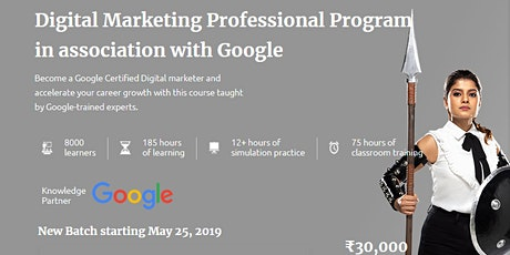 Online Digital Marketing Course in Association with Google India tickets