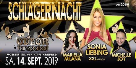 Schlagernacht Krefeld 14.9.2019 Tickets