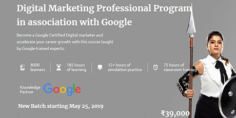Digital Marketing Professional Program in association with Google tickets