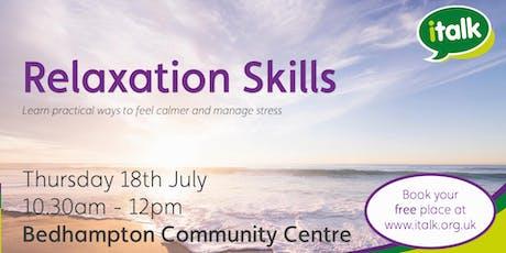 Relaxation Skills - Bedhampton tickets
