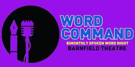 Word Command : Spoken Word Evening tickets