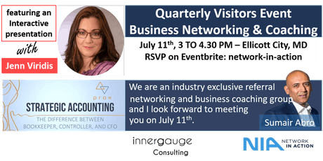 Network in Action - Quarterly Visitors Event - Business Networking & Coaching  tickets