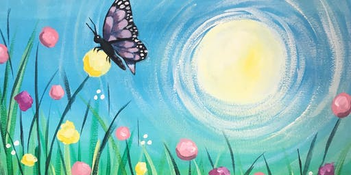 'Blooming Beautiful'  A fun, colourful painting event where art gets social