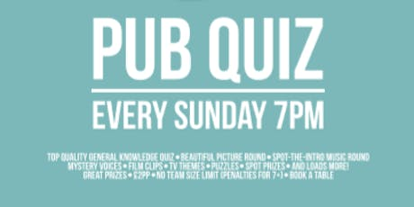 Pub Quiz tickets