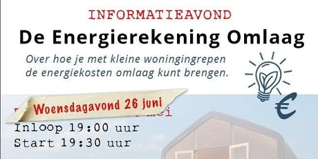 Informatieavond - De Energierekening Omlaag tickets