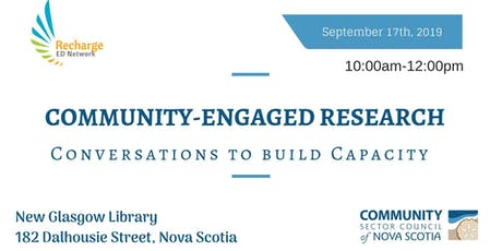 ED Network: Community-Engaged Research-CLARI (New Glasgow) tickets