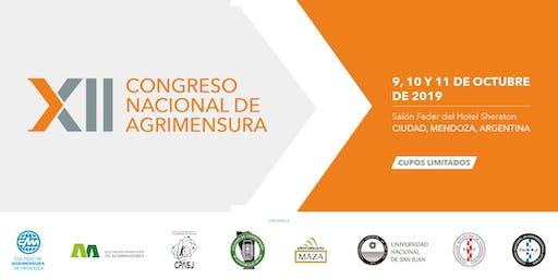 XII CONGRESO NACIONAL DE AGRIMENSURA