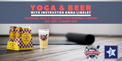 Badger State & Jenstar Present: Yoga & Beer - July