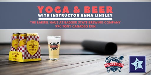 Badger State & Jenstar Present: Yoga & Beer - July