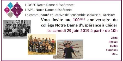 100 ans du collège Notre Dame d'Espérance