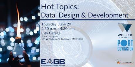 EAGB Hot Topics: Data, Design and Development tickets