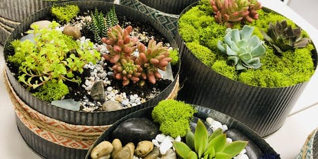 Make it & Take it: Galvanized Tin Succulent Garden tickets
