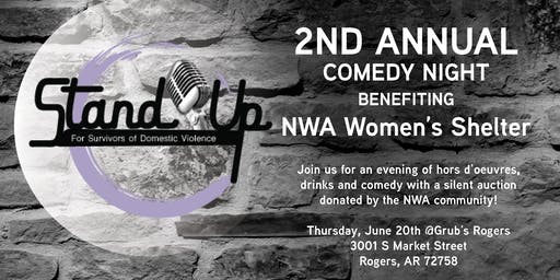 2nd Annual StandUp for Giving's Comedy Night benefiting NWA Women's Shelter