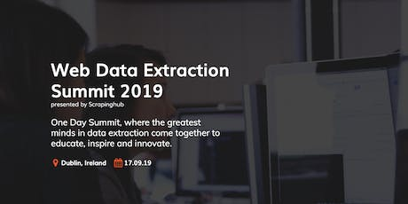 Web Data Extraction Summit tickets
