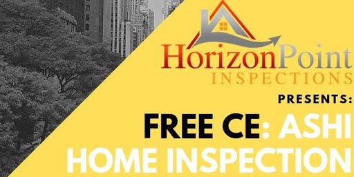 FREE CE: ASHI Home Inspection