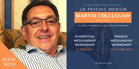 Evidential Mediumship Workshop with UK Evidential Medium Martin Colclough tickets