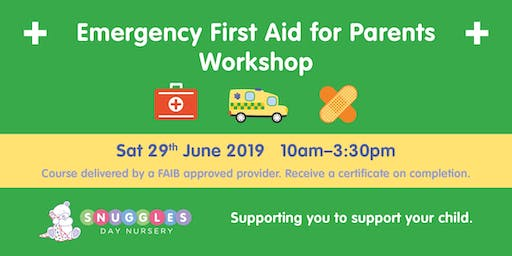 Emergency First Aid For Parents Workshop