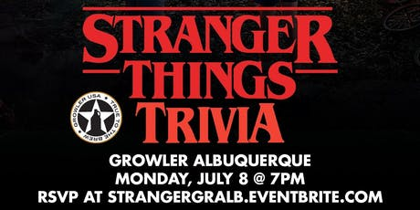 Stranger Things Trivia at Growler USA Albuquerque tickets
