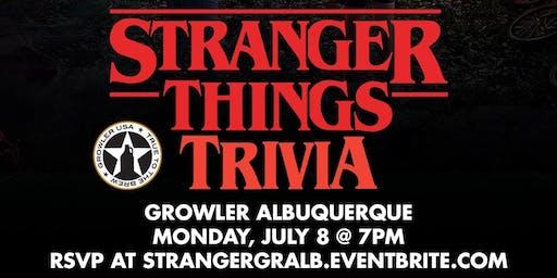 Stranger Things Trivia at Growler USA Albuquerque