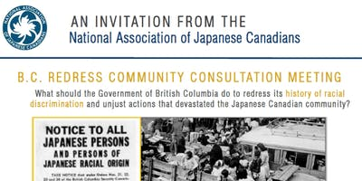 NAJC BC Redress Community Consultation - Burnaby, BC