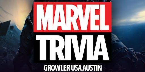 Marvel Cinematic Universe Trivia at Growler USA Austin