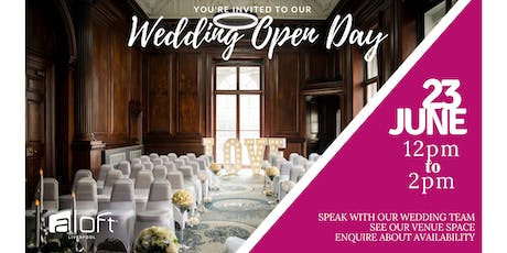Wedding Open Day at Aloft Liverpool  tickets