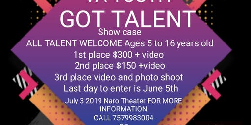 VA YOUTH GOT TALENT SHOW CASE Press Link (Audition ENTRY   Sponsor Event, Purchase TICKETS)