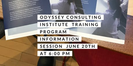 "Odyssey Consulting Institute   ""The Business of Consulting"" Training Program Infomation Session  tickets"