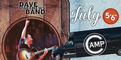 Camp Bar - Dave Mathews Band SATURDAY Shuttle  tickets