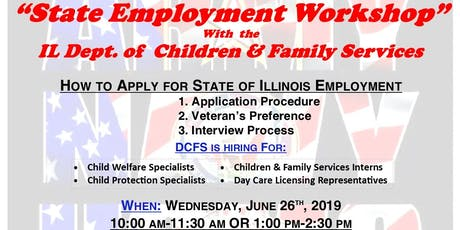 State of Illinois Employment Workshop with DCFS (Lake County) tickets