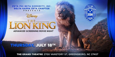 Lion King Advanced Screening Movie Night With The Blue and White tickets