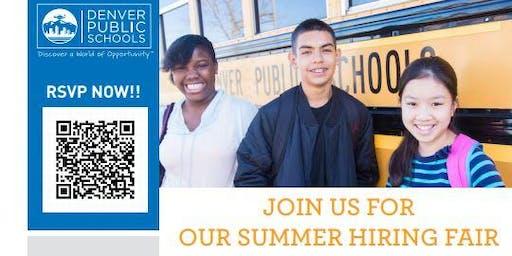 Denver Public Schools Summer Hiring Fair