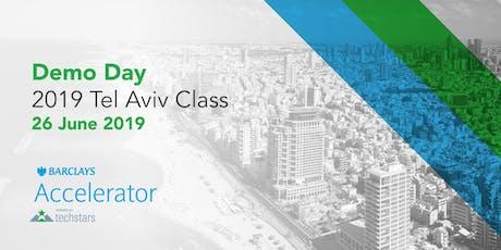 Barclays Accelerator, powered by Techstars in Tel Aviv Demo Day billets