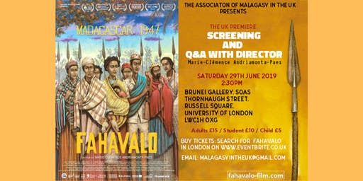 """The Association of Malagasy in the UK present """"FAHAVALO"""" + AFTERPARTY"""