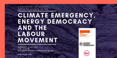 Climate Emergency, Energy Democracy and the Labour Movement tickets