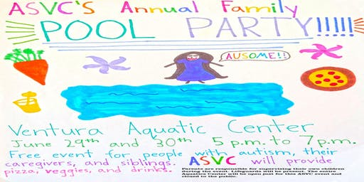 Autism Society Ventura County Annual Family Pool Party 2019