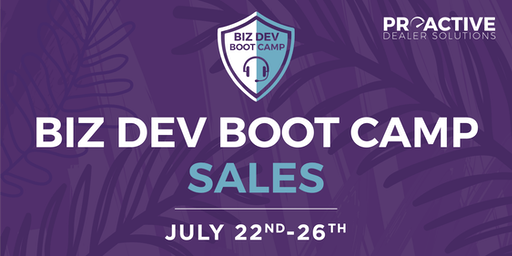 July - Biz Dev Boot Camp Sales