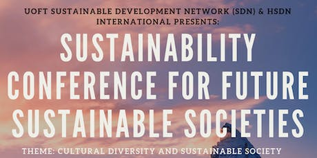 Sustainability Conference for Future Sustainable Societies tickets