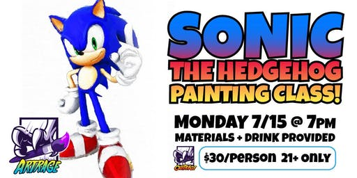 Sonic the Hedgehog Watercolor Painting Class!