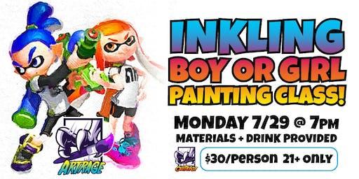 Splatoon: Inkling Watercolor Painting Class!