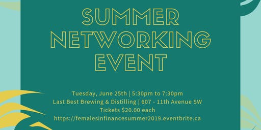Females in Finance - Summer Networking Event
