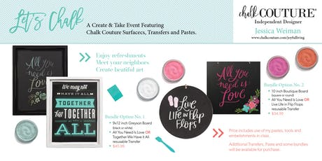 Let's Chalk! A Create & Take Event Featuring Chalk Couture tickets