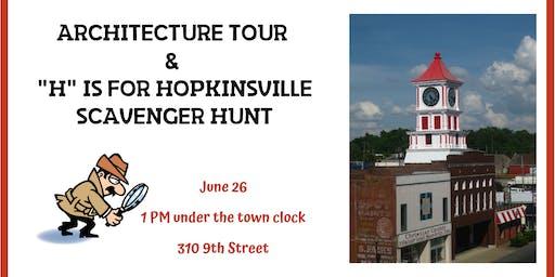Architecture Tour & H is for Hopkinsville Scavenger Hunt