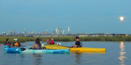 Hackensack Riverkeeper's Moonlight Paddles 8/16/2019 (Post-Full Moon)