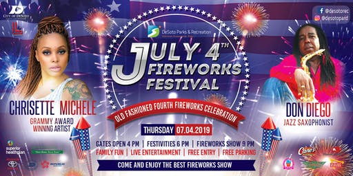 July 4th Fireworks Celebration - DeSoto - FREE