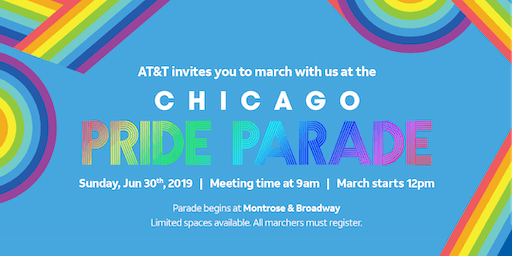AT&T LEAGUE Chicago Pride Parade 2019