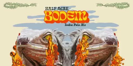 Half Acre Bodem IPA Beer Sampling at Cactus Bar & Grill